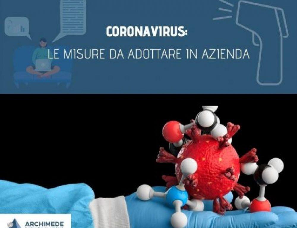 Coronavirus: le misure da adottare in Azienda