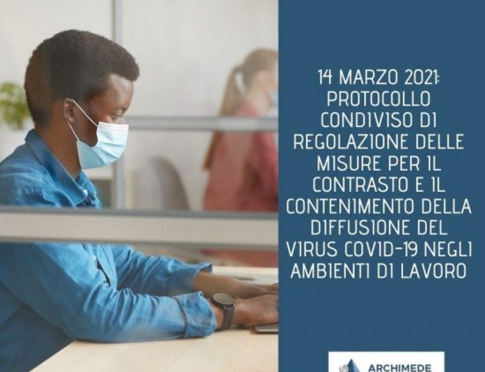 COVID-19: Misure per il contrasto e il contenimento della diffusione del virus negli ambienti di lavoro