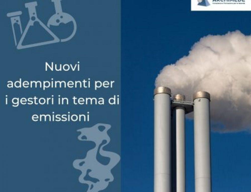 """Nuovi adempimenti in materia di emissioni di """"sostanze/miscele classificate"""" rientranti nel comma 7-bis"""